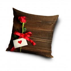 3D Калъфка за възглавница Свети Валентин Роза