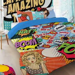 Спално бельо премиум за голяма спалня - поп арт