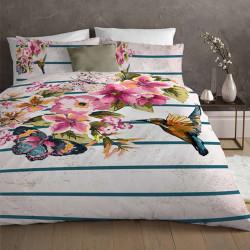 Спално бельо премиум за единично легло - колибри