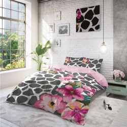 Спално бельо ранфорс за голяма спалня - цветя
