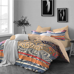 Спално бельо ранфорс с две лица за единично легло - вълшебство