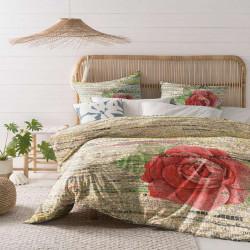 Спално бельо ранфорс за единично легло - роза