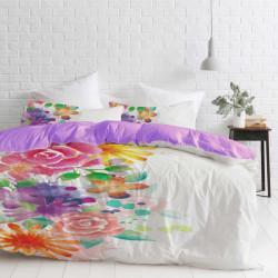 Спално бельо ранфорс с две лица за голяма спалня - свежест