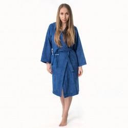 Хавлиен халат Юношески в тъмно синьо
