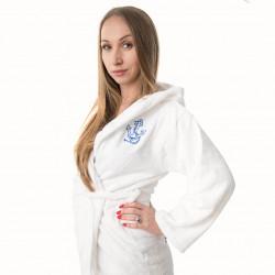 Хавлиен халат Юношески в бяло