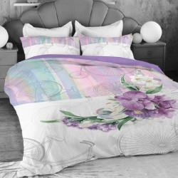 Спално бельо ранфорс за единично легло - пастели
