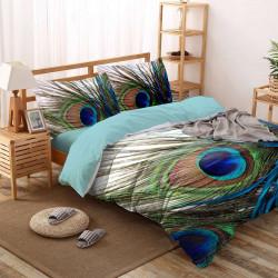 Спално бельо ранфорс з макси спалня - паунови пера