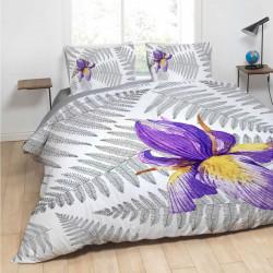 Спално бельо ранфорс за голяма спалня - ирис