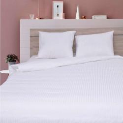 Луксозен спален комплект от памучен сатен с 3D заединично легло - ивици
