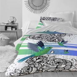 Луксозен спален комплект от памучен сатен с 3D за голяма спалня - вълшебство