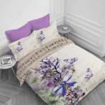 Спално бельо ранфорс с две лица за макси спалня - утро