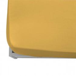 Чаршаф с ластик ранфорс 165/200/20 в бананово жълто
