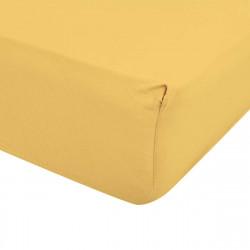 Чаршаф с ластик ранфорс 180/200 в жълто