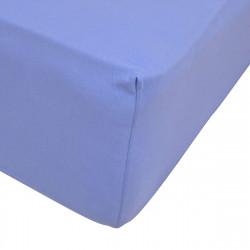Чаршаф с ластик трико 160/200 в синьо
