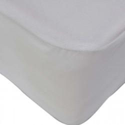 Непромокаем протектор с ластик 140/200/25  в бяло