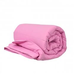 Олекотена завивка ранфорс със силиконова вата 200/210 в розово