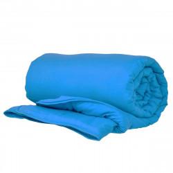 Олекотена завивка от микрофибър 150/210 с двойна вата в синьо