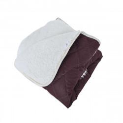 Олекотена завивка от ранфорс 150/210, шерпа и 200 гр. вата с цветен принт