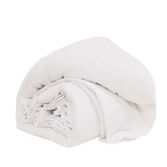 Всесезонни олекотенаи завивки 2 бр. от ранфорс 200/210 с вата 150 гр. и 250 гр. в бяло
