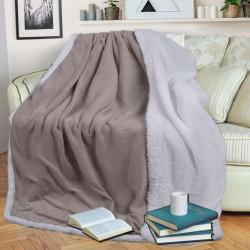 Шерпа одеяло с две лица 140/200 - бежово и бяло