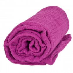 Памучно одеяло 200/220 на вафлички - лилаво