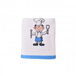 Луксозна хавлиена кърпа 40/60 с бродерия - готвач
