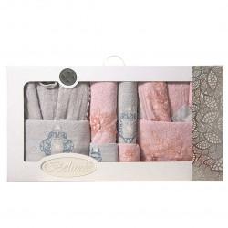 Хавлиени халати в кутия с кърпи комплект Elizabeth