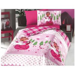 Детско спално бельо ранфорс Принцеса и Еднорог