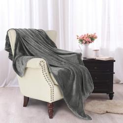 Софт одеяло или покривало за легло Тъмно Сиво