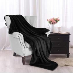 Софт одеяло или покривало за легло Черно