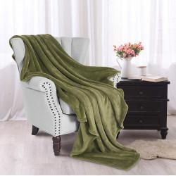 Софт одеяло или покривало за легло Тъмно Зелено