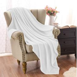 Софт одеяло или покривало за легло Бяло