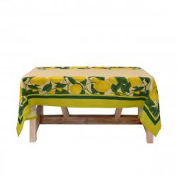 Луксозна покривка от поликанава с минимат печат 100/150 - жълти лимони