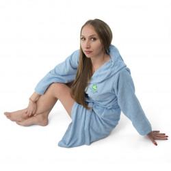 Хавлиен халат Юношески в синьо