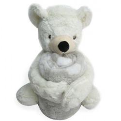 Пухкаво одеяло с играчка Мечо