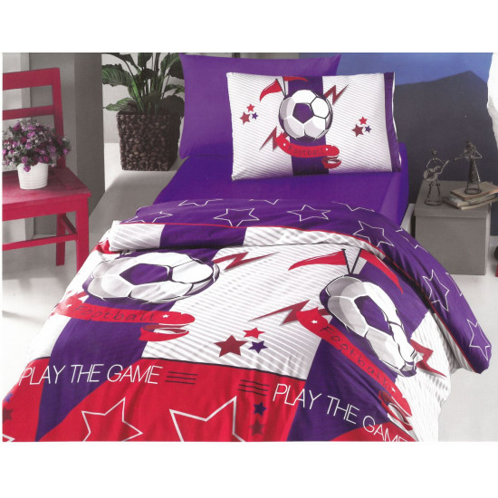Детско спално бельо ранфорс Футбол