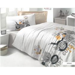 Детско спално бельо ранфорс Мотори