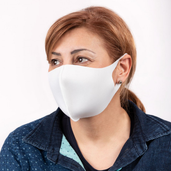 1 бр - Бяла Неопренова маска за многократна употреба - NRP - НАЛИЧНО