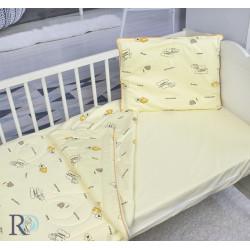 Бебешко спално бельо от памучно трико Мечо
