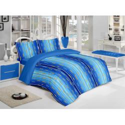 Спално бельо 100% Памук Каро синьо