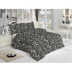 Спално бельо 100% Памук Черен Елегант