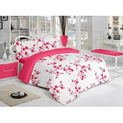 Спално бельо памук Цветенца Червено