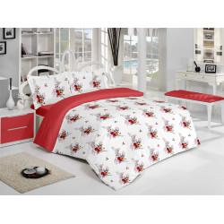 Спално бельо памук Хелена Червено