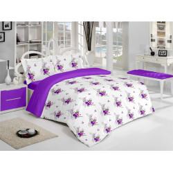 Спално бельо памук Хелена Лилаво