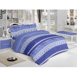 Спално бельо памук Релакс Синьо