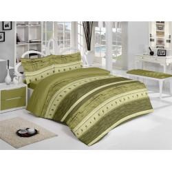 Спално бельо памук Релакс Зелено