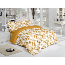Спално бельо памук Боя Бежово