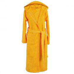 Хавлиен халат с качулка MEMI жълто