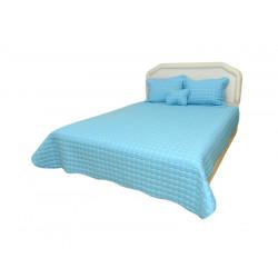Кувертюра с калъфки за възглавница Амстет светло синьо