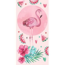 Памучна плажна кърпа Flamingo Summer